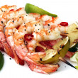 Prawn and Lime Skewers - Stock Photo