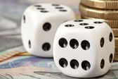Dice and Money — Stock Photo