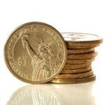 American Dollar Coins — Stock Photo #6995668