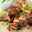 Thai Chicken Skewers — Stock Photo