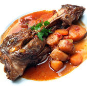 Lamb Shank Dinner — Stock Photo