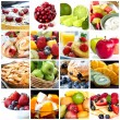 Stock Photo: Fruits Collage