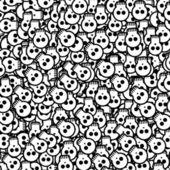 Halloween background will skulls — Stock Vector