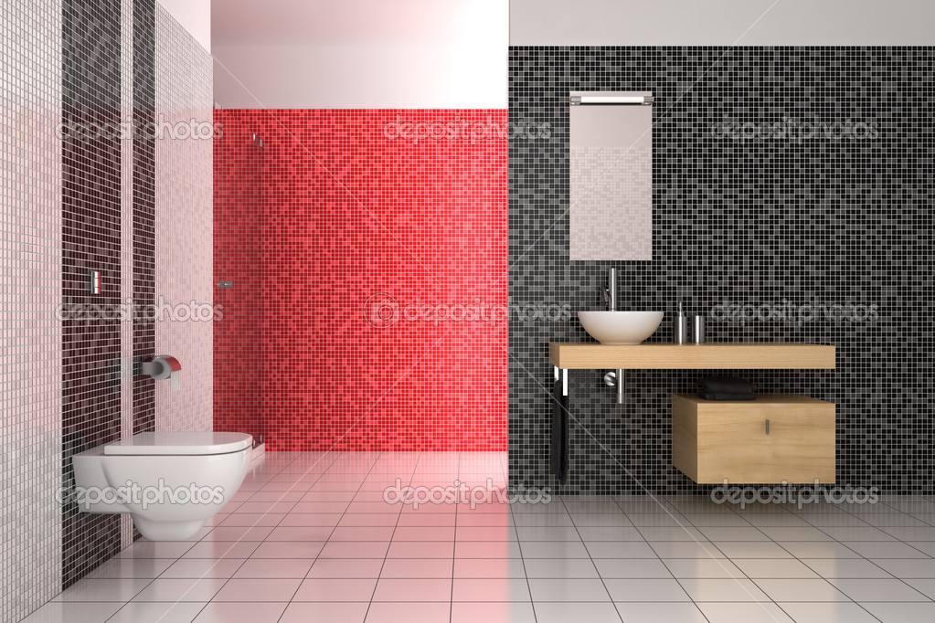 Lastest Your Choice For Amazing Red And White Tiles For Bathroom Designs