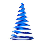 Stylized Christmas tree in blue glass — Stock Photo