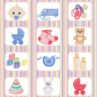 Stock Vector: Baby icon collection