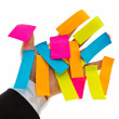 Postit hand — Stock Photo