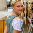 Young girl in a dirndl — Stock Photo
