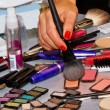 Getting make-up — Stock Photo