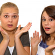 Surprised girls — Stock Photo