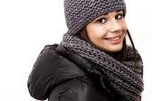 Garota vestindo um casaco com capuz — Fotografia Stock