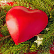 Stock Photo: Red christmas hearts