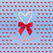 Candy cane heart design with Merry Christmas text — Stock Photo