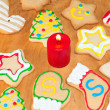 Assortment of bright, colorful Christmas cookies — Stock Photo