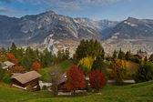 Szwajcarskie alpy wieś — Zdjęcie stockowe