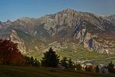 švýcarské alpy na podzim — Stock fotografie