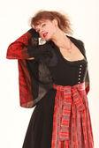 Eroticism in Bavarian costume — Stock Photo