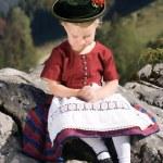 Little girls in Bavarian pray — Stock Photo #7114277
