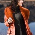 Fashionable Autumn at the lake — Stock Photo