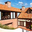 A house with red tile roof — Stock Photo