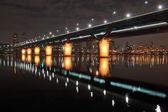 Cheongdam bridge at night — Stock Photo