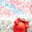 Royalty-Free Stock Photo: Christmas ball on lighten background