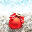 Christmas ball on lighten background — Stock Photo #7673510