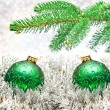 Christmas ball on lighten background — Stock Photo