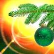 Zweig der Weihnachtsbaum — Stockfoto