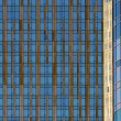 Abstract Blue and Gold Window Pattern - Zdjcie stockowe