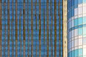Modèle abstrait fenêtre bleu et or — Photo