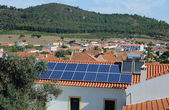 Solar fältet — Stockfoto
