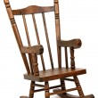 Old wooden rocking chair on white background — Photo