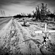Roadside memorial. - Foto Stock