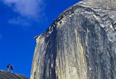Hikers below Half Dome. — Stock Photo