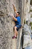 Una pura cara de escalada en roca. — Foto de Stock