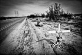 Roadside memorial. — Stock Photo