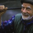 Постер, плакат: Portrait of a happy older man