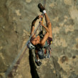 Female rock climber. — 图库照片 #7385469