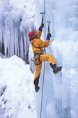 Ice climber. — Stock Photo