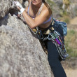 Female rock climber. — Stock Photo #7406300
