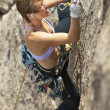 Female rock climber. — Stock Photo #7406325