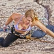 Female rock climber. — Stock Photo #7406383