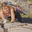 Female rock climber. — Stock Photo #7506454
