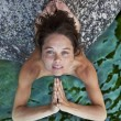 Young woman meditating. - Stockfoto
