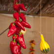 Peppers and pumpking hanging — Stock Photo #7002469