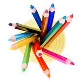 Lápis em jar vista de cima — Fotografia Stock