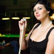 Billiards player. — Stock Photo