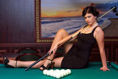Ready to play billiards. — Stock Photo