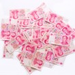 Stock Photo: Heap of chinese yuan